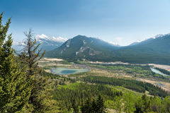 Hiking trail of Cory Pass and Bow Valley Stock Photography