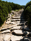 Hiking trail, descent Babia Mountain, the highest peak in the Be Royalty Free Stock Photo