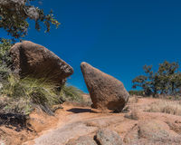 Hiking Trail  Through Desert Boulders Royalty Free Stock Photography