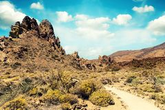 hiking trail in desert Royalty Free Stock Photos