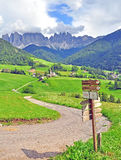 Hiking trail. In Dolomites, italian Alps Stock Images