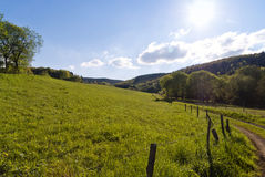 On the Hiking Trail Eifelsteig. In the Eifel, Germany royalty free stock images