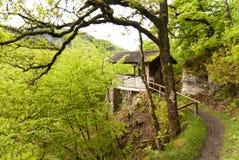 On the Hiking Trail Eifelsteig Royalty Free Stock Photo