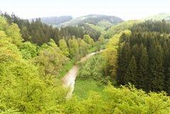 On the Hiking Trail Eifelsteig. In the Eifel, Germany stock image