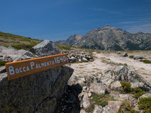 Hiking trail in France. GR 20 Hiking trail in Corsica, France Stock Image