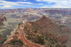 Hiking trail in Grand Canyon Stock Image