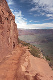 Hiking trail in Grand Canyon. South Kaibab Trail near Cedar Ridge in Grand Canyon, Arizona stock photography