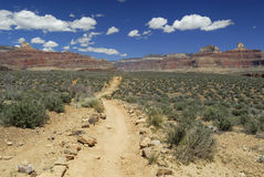 Hiking trail in the Grand Canyon National Park Stock Photography