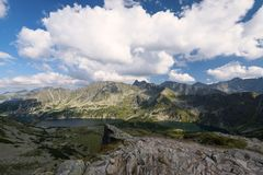 Hiking trail in the High Tatra Stock Images