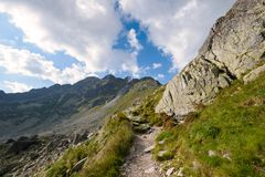 Hiking trail in the High Tatra Royalty Free Stock Images