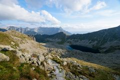 Hiking trail in the High Tatra Stock Photography