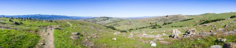 Hiking trail on the hills of Santa Teresa county park stock image