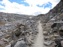 Hiking Trail In Kings Canyon National Park Stock Photo