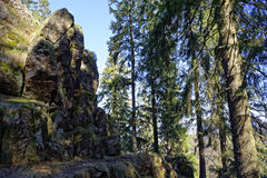 Hiking trail at Kandel mountain Royalty Free Stock Images