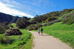 Hiking trail in Laguna Canyon, Laguna Beach, California. Stock Photos