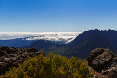Hiking trail between le Maido and le Grand Benare la Reunion island Royalty Free Stock Image