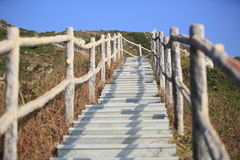 Hiking trail lead to mountain peak Royalty Free Stock Photo