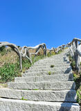 Hiking trail lead to mountain top Royalty Free Stock Photo