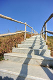 Hiking trail lead to mountain top Stock Photos