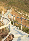 Hiking trail lead to mountain top Royalty Free Stock Photography