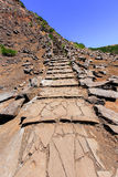 Hiking trail leading up the mountain on Madeira Stock Photography
