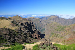 Hiking trail in Madeira Stock Photo