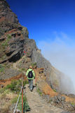 Hiking trail in Madeira stock photography