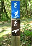 Hiking Trail Marker Stock Image