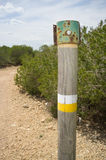 Hiking trail marking Stock Photography