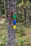 Hiking trail marks Stock Image