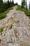 Hiking trail on mountain ridge Royalty Free Stock Photo