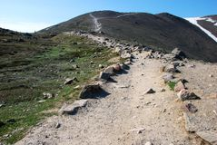 Hiking trail on Mountain Whistler Royalty Free Stock Photography