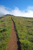 Hiking trail in the mountains Stock Image