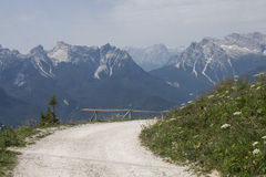 Hiking trail in the mountains Royalty Free Stock Photography