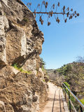 Hiking trail in the mountains of Castile, Spain Royalty Free Stock Photo