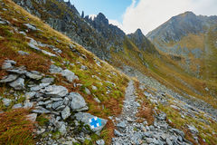 Hiking trail in the mountains Royalty Free Stock Images