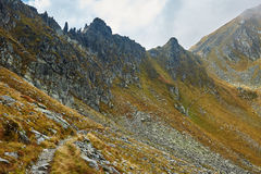 Hiking trail in the mountains Royalty Free Stock Photo