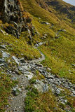 Hiking trail in the mountains Stock Images