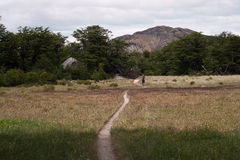 Hiking trail in the mountains. Patagonia. Argentina Royalty Free Stock Image