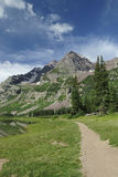 Hiking trail near Maroon Bells in Colorado Stock Image