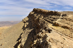 Hiking trail in Negev Desert. Royalty Free Stock Images