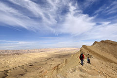 Hiking trail in Negev Desert. Stock Photography