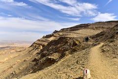 Hiking trail in Negev Desert. Royalty Free Stock Image