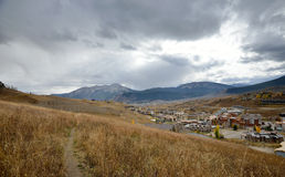 Hiking Trail overlooking Mt. Crested Butte, Colorado Royalty Free Stock Image
