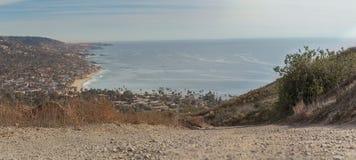 Hiking trail that overlooks the Laguna Beach Stock Images