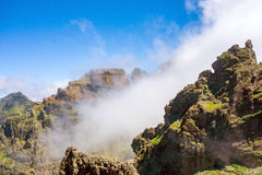 Hiking trail passage - colorful volcanic mountain landscape Royalty Free Stock Photo