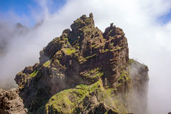 Hiking trail passage - colorful volcanic mountain landscape Stock Images