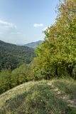 Hiking trail. In the Pilis mountains in Hungary royalty free stock photo