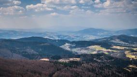 Panorama of beaufitul Polish mountains royalty free stock photography