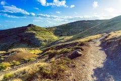 Hiking trail in Ponta de Sao Lourenco peninsula. Madeira royalty free stock photos